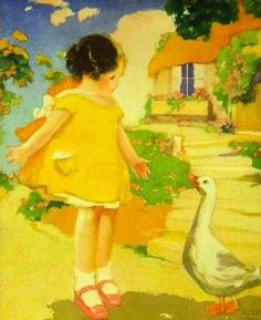"Albert Hencke (1865-1936)- from nursery rhyme ""Goosy, Goosy Gander"""