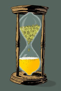 The Brew: The Ephemeral Pleasures of Wet Hop Beer - Beer art: Time and ingredients = beer. Craft Bier, Beer Hops, Beer Club, Beer Poster, Beer Art, Home Brewing Beer, Beer Humor, Beer Recipes, Coffee Recipes