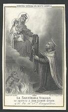 Grabado antiguo de la Virgen del Carmen a