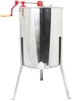 Four Frame Stainless Steel (Silver) Bee Honey Extractor SS Honeycomb Drum Honey Bee Extractor, Beekeeping Equipment, Bee Supplies, Bee Honeycomb, Clear Perspex, Best Honey, Simple Machines, Steel Material, Bee Keeping