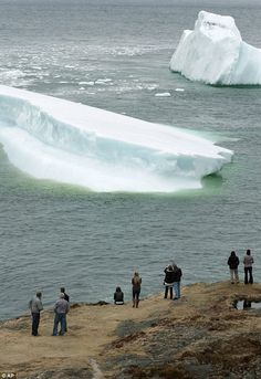 or seascapes. icebergs passing near St. John's, Newfoundland, and Labrador.