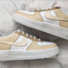 Beige Nike Shoes, Cute Nike Shoes, Cute Nikes, Air Force Ones, Air Force 1, Nike Air Force, Nike Kicks, To My Daughter, Mocha