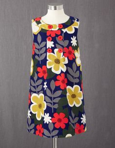 Button Pinafore Dress—Mini Boden. One large pleat and a yoke.
