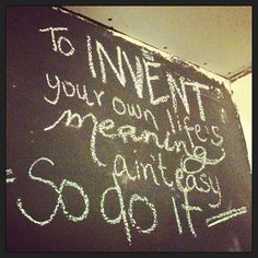 Inspired by Bill Watterson, I edited my chalk wall.