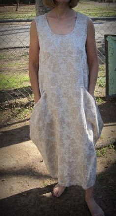 """1130 Jumper...narrow up the shoulders and expose my neckline and this IS my preferred """"work"""" dress for the garden..."""