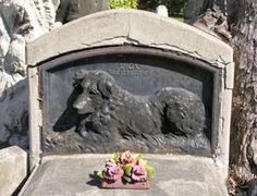 """Lick, our faithful friend"" monument at Paris Dog Cemetery"