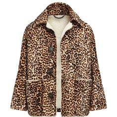 Burberry Animal Print Donkey Jacket (447.710 RUB) ❤ liked on Polyvore featuring outerwear, jackets, coats, burberry, coats & jackets, shiny jacket, brown jacket, burberry jacket and animal print jacket