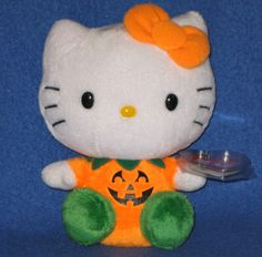 TY HELLO KITTY PUMPKIN BEANIE BABY - MINT with MINT TAGS