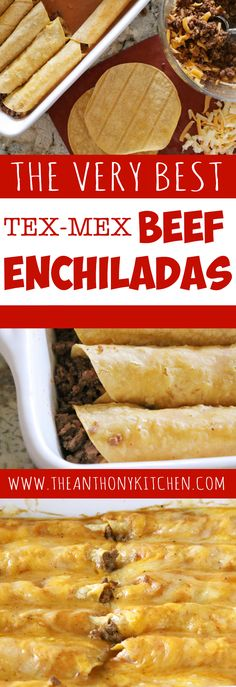 Easy Ground Beef Enchiladas with Corn Tortillas | The only recipe you'll ever need for authentic Tex-Mex beef enchiladas. Featuring ground beef enchiladas, a homemade beef gravy, and a freshly grated cheese blend | #texmexrecipes #easyenchiladarecipes #enchiladaswithcorntortillas #groundbeefenchiladas