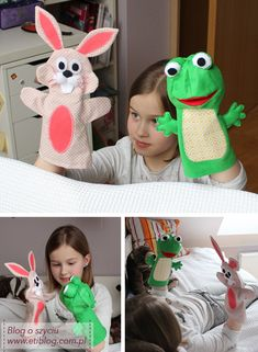 Puppets / puppets for children (sewing step by step) + pattern, DIY and Crafts, Puppets / puppets for children (sewing step by step) + pattern. Glove Puppets, Felt Puppets, Puppets For Kids, Hand Puppets, Finger Puppets, Felt Diy, Felt Crafts, Felt Games, Puppet Patterns