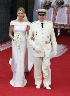 Prince Albert and Princess Charlene of Monaco on their wedding day.