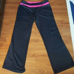 Adidas Yoga Capri Adidas Yoga Capri. Black with Pink stripes down ...