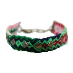 Friendship bracelet met studs #ohsohip