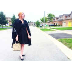 David Dixon dress and shoes, Mackage Bag & coat Fall 2015, David, Coat, Shoes, Dresses, Fashion, Vestidos, Moda, Sewing Coat