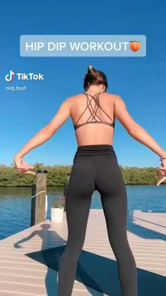 Dip Workout, Full Body Gym Workout, Slim Waist Workout, Gym Workout Tips, Fitness Workouts, Butt Workout, Workout Challenge, Workout Videos, Hip Dip Exercise