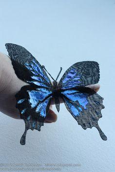 Eiloren: Organza Butterfly - Using a Soldering iron on Textiles Video Tutorial