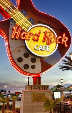 Hard Rock Cafe Destin guitar sign. #hardrock