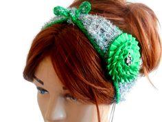 Silver Color Headband Gypsy Headband Boho by MimosaKnitting
