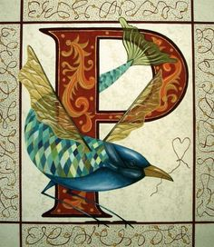 "illuminated ""P"" by ciummi, via Flickr"