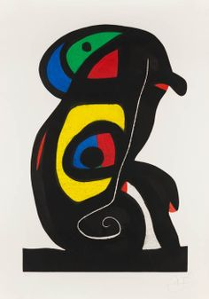 Joan Miro - Le Brahmane (The Brahman) | From a unique collection of abstract prints at http://www.1stdibs.com/art/prints-works-on-paper/abstract-prints-works-on-paper/