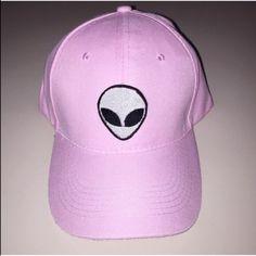 Pink alien baseball cap New and adjustable Accessories Hats
