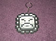 Super Mario World Thwimp keychained perler sprite