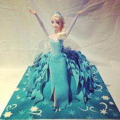 Elsa Dolly varden Cake - with split leg dress!