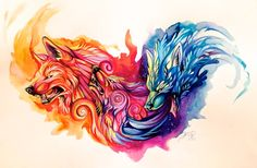 Full of color drawing by Katy Lipscomb