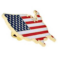 """NEW 2 USA United States Patriotic Red White Blue Flag /& Letters Lapel Pin 1/"""""""