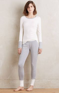 These pajamas are meant to be worn in the winter because the thermal material will keep her warm at night.