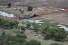 The only bridge that crosses the river Kiir south of Abyei town, was destroyed by the Sudanese Army