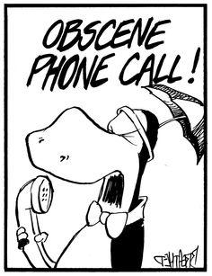 | obscene phone call