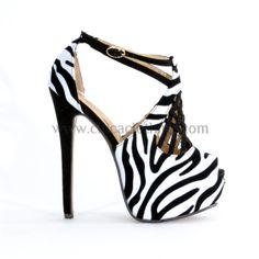 Γόβα πιπ-το ασπρόμαυρη με διπλή μπαρέτα και χιαστή λουράκια Kai, Heels, Fashion, Heel, Moda, Fashion Styles, Shoes Heels, Fashion Illustrations, High Heel