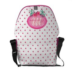 http://www.zazzle.com/pink_frame_monogram_rose_courier_bags-210774656414935834?rf=238523064604734277 Pink Frame Monogram Rose Courier Bags - This messenger bag has lots of pink roses all over. It has a pink monogram frame with roses and green foliage in which to place your name and initial. This would make a nice, personal Christmas or birthday gift for your wife, daughter or mother.