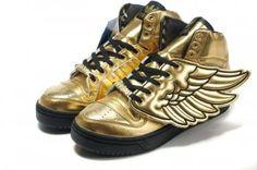best website b1ffb a7302 Adidas Originals Jeremy Scott JS Wings Gold Black