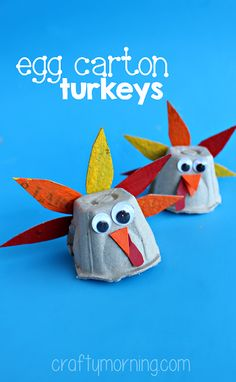 Egg Carton Turkey Craft for Thanksgiving - Crafty Morning