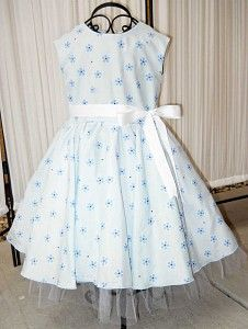 #SFK Blue Floral Girls Dress
