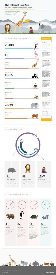 El zoo de Internet: los tamaños adecuados de las publicaciones #infografia #infographic #socialmedia