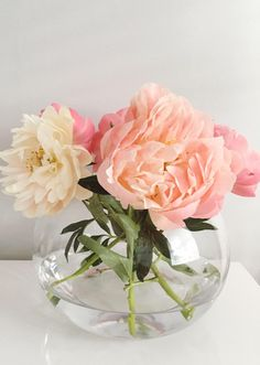 Fabulous pink peonies that brighten the home.