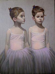 "Saatchi Online Artist: Michael Foulkrod; Oil, 2010, Painting ""twins"""