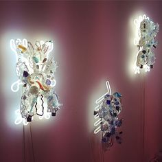 chris wolston fetish lights with neon and costume jewelry via haisai ojisan