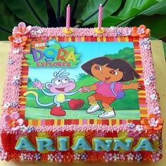 Dora Birthday Cake On