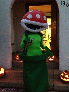 Mario Bros Piranha Plant - Homemade costumes for women Mario Bros, Halloween Costume Contest, Costume Ideas, Costume Works, Homemade Costumes, Costumes For Women, Favorite Holiday, Main Idea, Elf On The Shelf