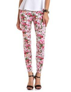Floral Print Cotton Legging #charlotterusse