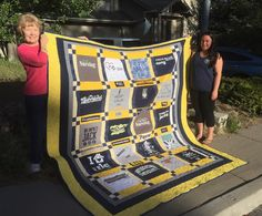 Graduation quilt for graduate nurse Taylor Payne! We are so proud of you and we love you so much! Designers Taylor Sara Cindy and Shirley. Construction Shirley. Quilting Corina. #naugrad #graduation2016 #nurse by slpipi