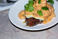 Grilled NY Strip Steak Smothered In A Spicy Shrimp Sauce | Julie's Jazz