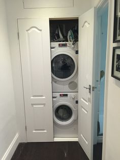 Laundry Cupboard • Washing Cupboard • Hidden Washing Machine • Cleaning Closet ❤️