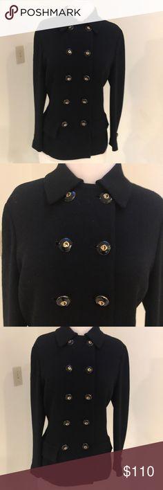 I just added this listing on Poshmark: EUC ST JOHN BLACK JACKET WITH BLACK/GOLD BUTTONS. #shopmycloset #poshmark #fashion #shopping #style #forsale #St. John #Jackets & Blazers