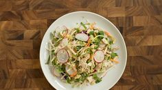 Rainbow slaw and rotisserie chicken make for an easy no-cook meal
