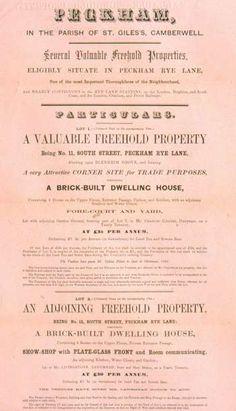 Sale of the Peckham Rye Estate